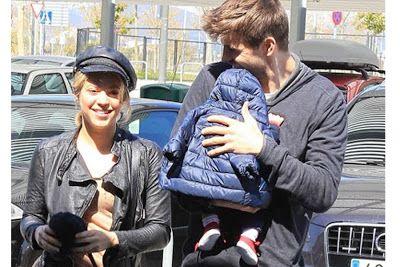 Gerard Drops Off Shakira At Barcelona Airport Milan Pique