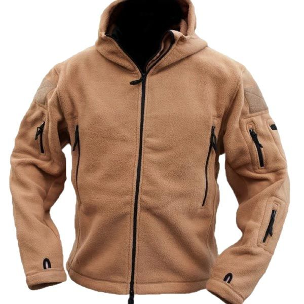Men Tactical Military Winter Fleece Hooded Outdoor Jacket at ...