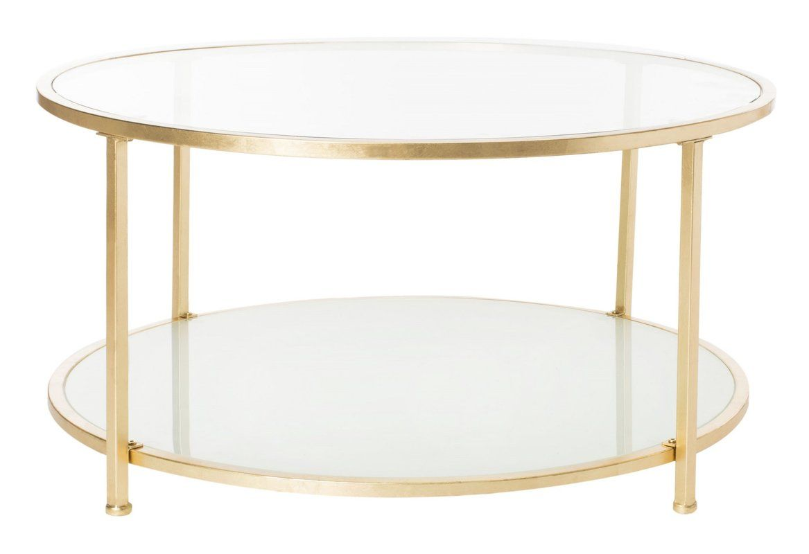 Hodnett 2 Tier Coffee Table Gold Coffee Table Coffee Table Coffee Table Furniture