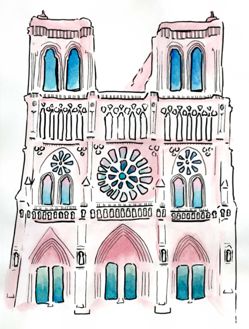 Tumblr Mixjwrayek1rqimgjo1 500 Png 500 661 Notre Dame Paris France Paris Illustration Landmarks Art Parisian Landmarks