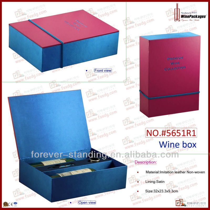 5651r1 Luxury Red Pu Leather 2 Bottle Wine Gift Boxes Wholesale View Wine Gift Boxes Wholesale Wine Package Product Details From Forever Standing Station Sise