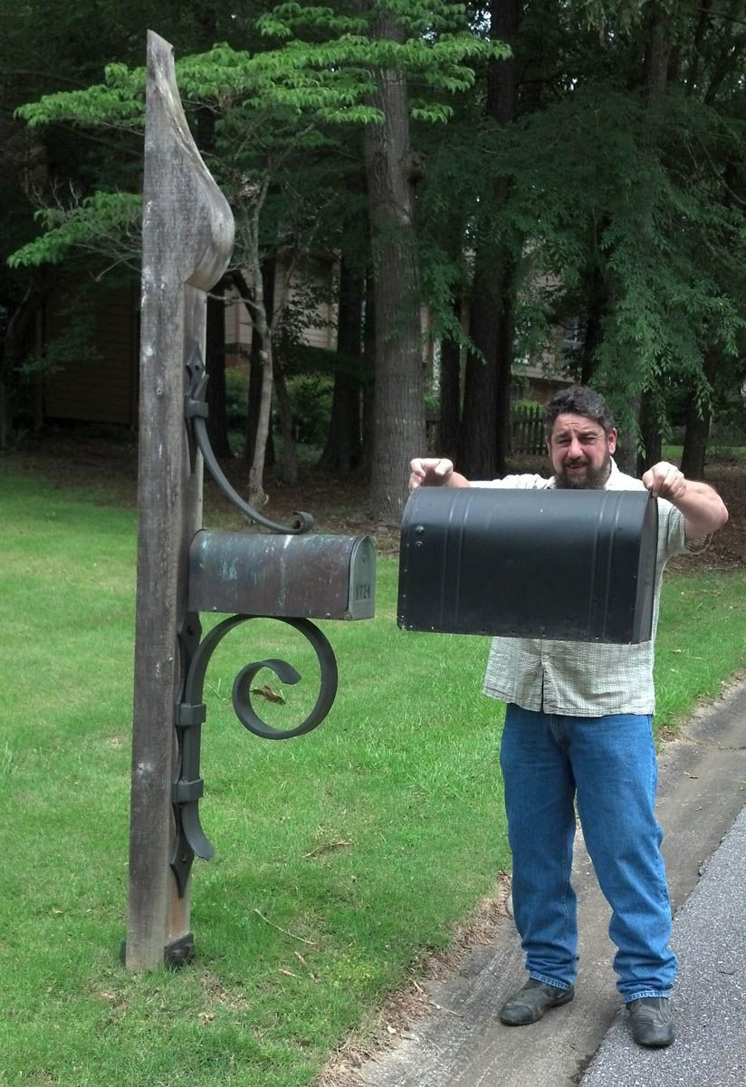 Kingwood Large Mailbox Large Mailbox Mailbox Landscaping Rustic Mailboxes