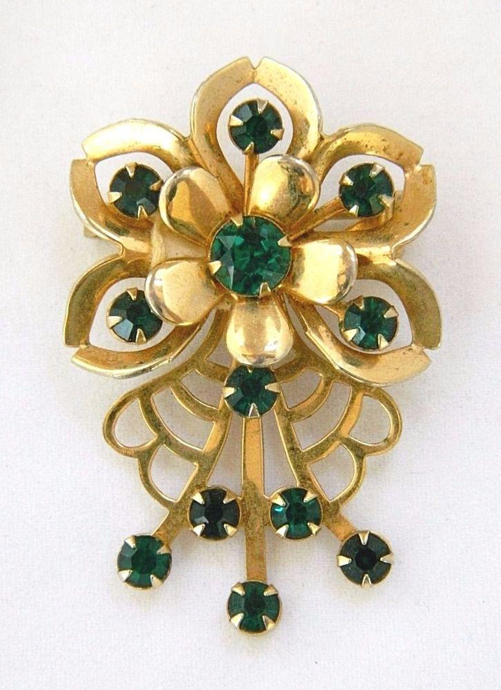 Vintage Costume Jewelry Mid Century Brooch Vintage Brooch Vintage Pin