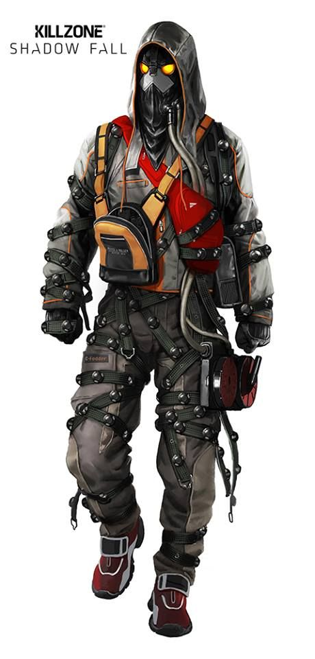Killzone: Shadow Fall character design