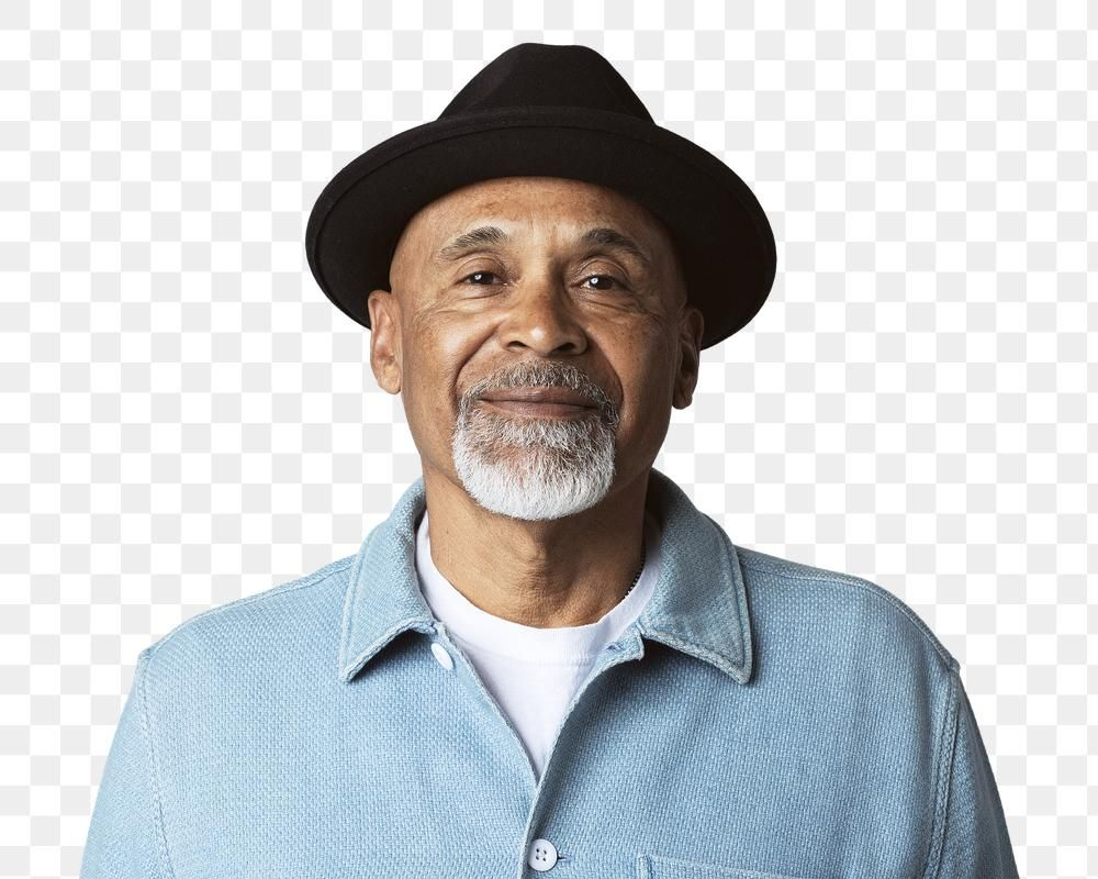 Happy Senior Man Wearing A Black Hat Mockup Premium Image By Rawpixel Com Mckinsey Menswear Man How To Wear