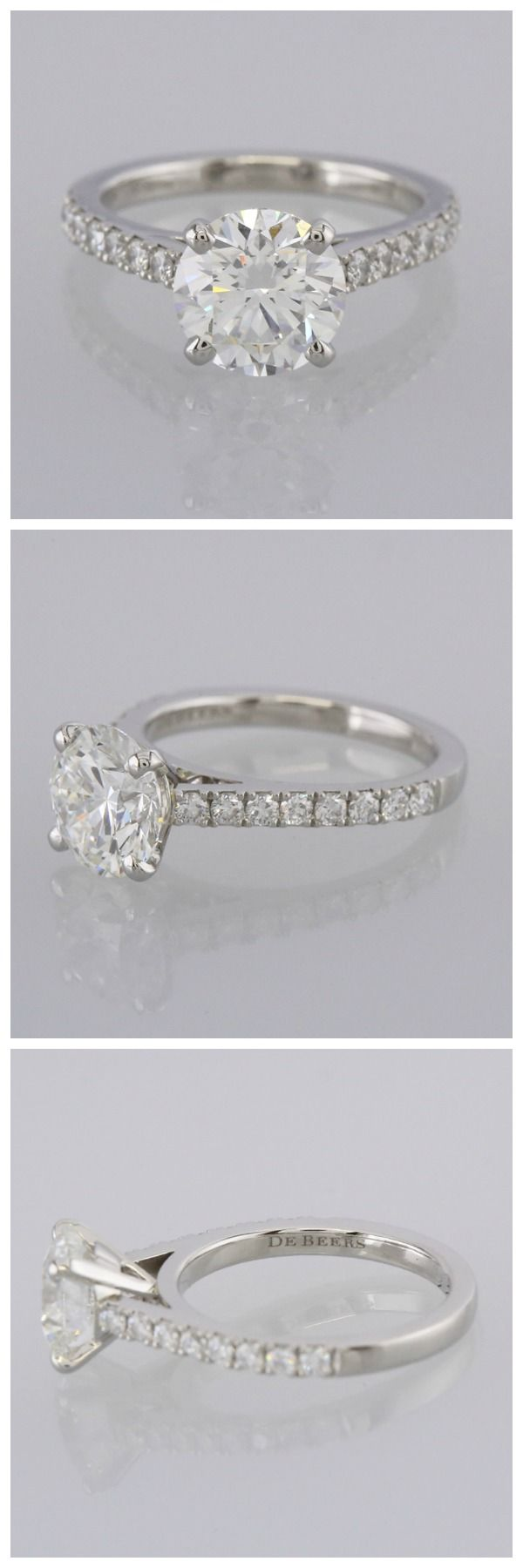 De beers diamond solitaire engagement ring accessories pinterest