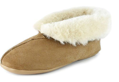 Canterbury Sheepskin 'Mel' Sheepskin Slipper, Chestnut, Womens 7 *** Check out the image by visiting the link.