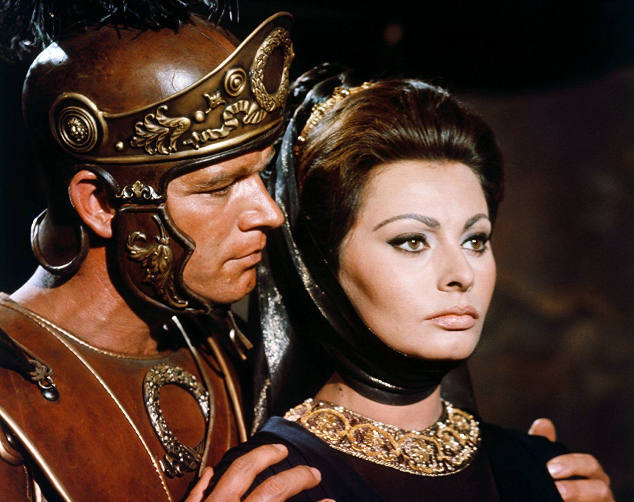 Sophia Loren And Stephen Boyd In The Fall Of The Roman Empire
