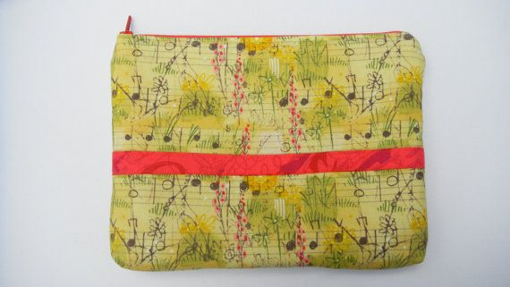 Soft yellow zippered music bag by themusicshop on Etsy, $10.00