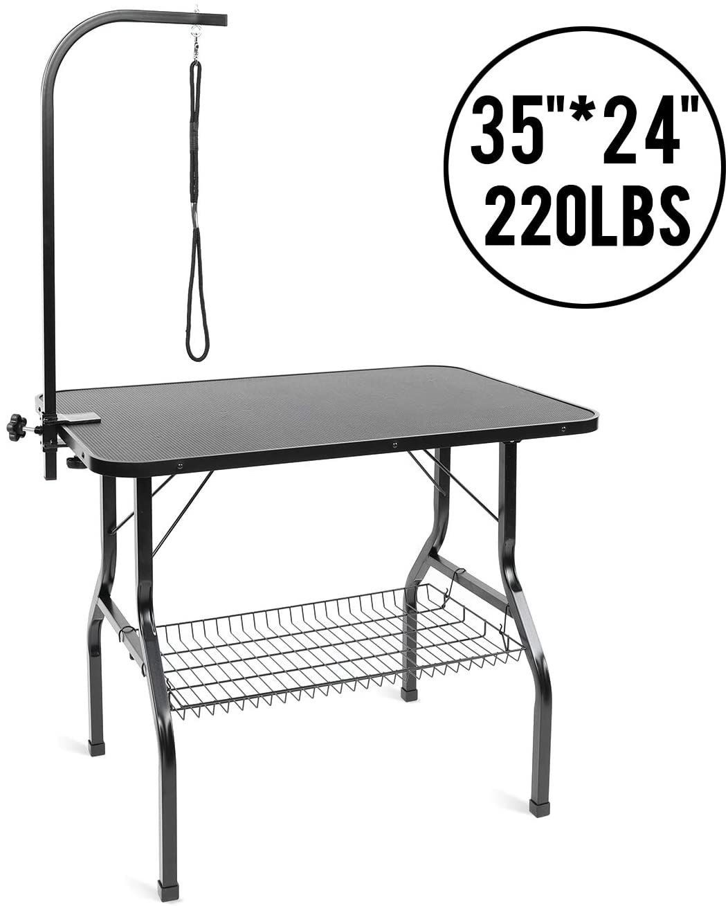 Lazy Buddy Dog Grooming Table Pet Grooming Table Heavy Duty Grooming Table For Max Capacity 22 In 2020 Dog Grooming Pet Grooming Large Dogs