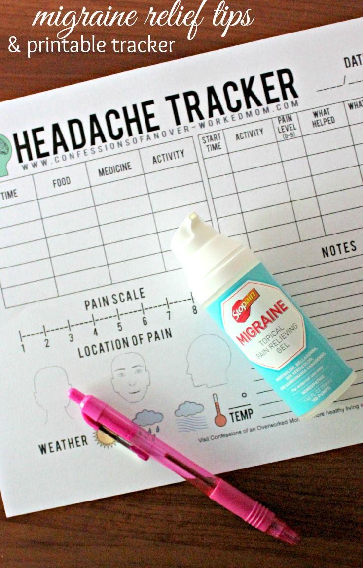 Migraine Tips and a Free Printable Headache Tracker | Fix me