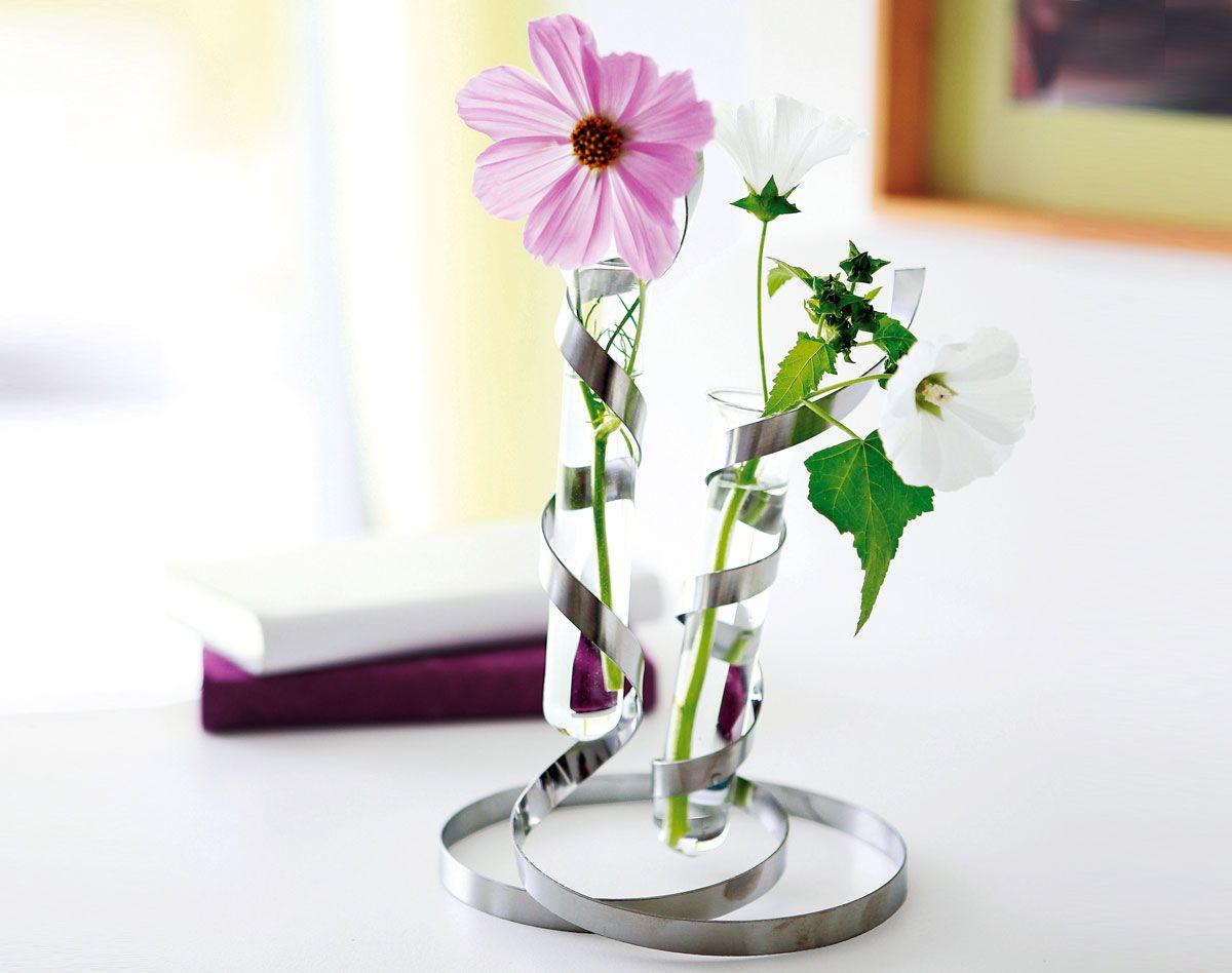 double soliflore spirales design deco becquet artisanat glass vase vase et decor. Black Bedroom Furniture Sets. Home Design Ideas