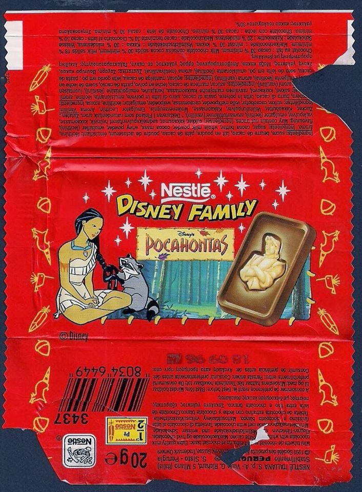 Nestlé Disney chocolate bars with the white chocolate