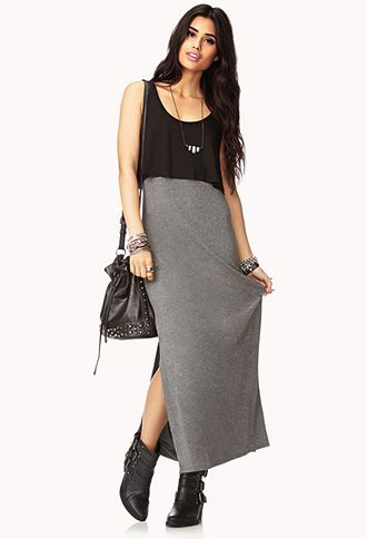 Day Off Side-Slit Maxi Dress | FOREVER 21 - 2000076470