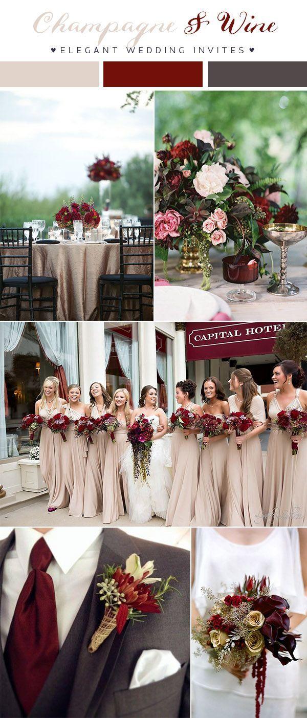 Updated)Top 10 Wedding Color Scheme Ideas for 2018 Trends   Dark ...