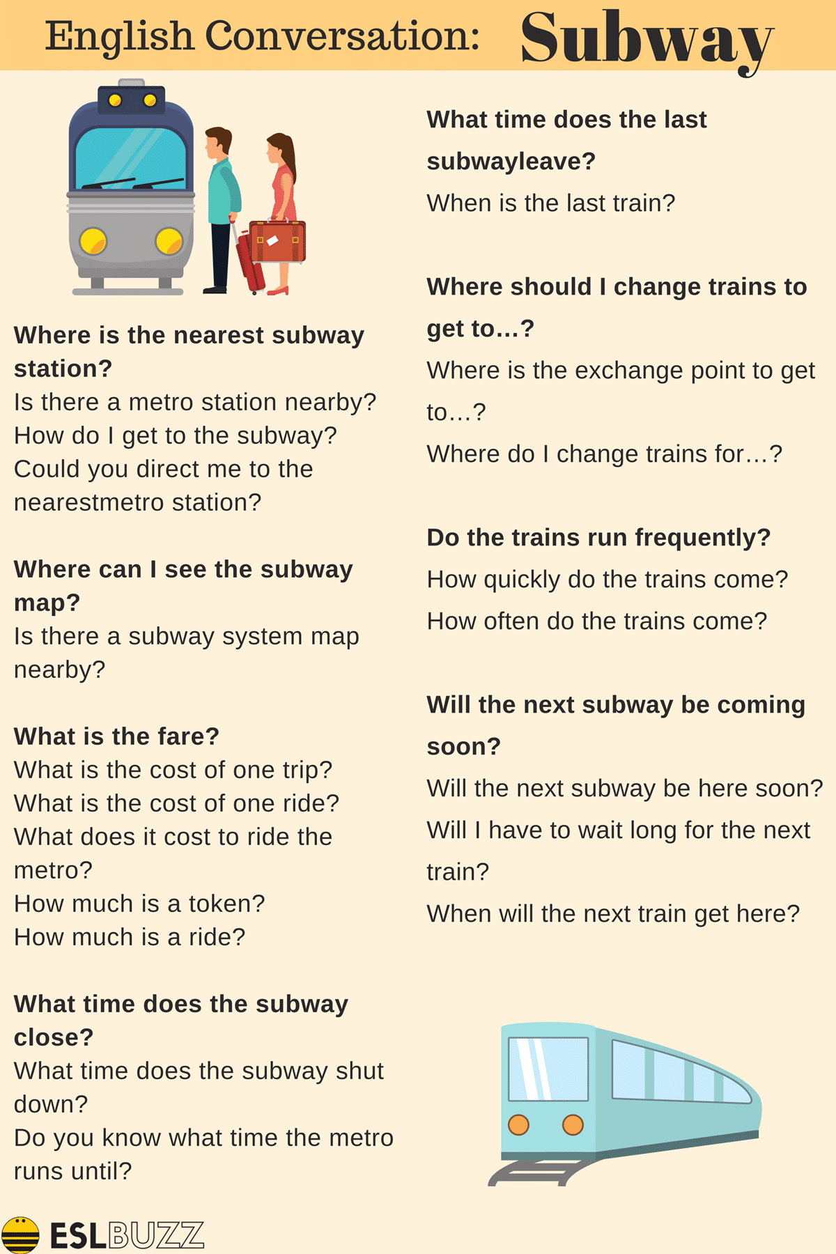 Easy Conversations About Transportation For Esl Students Eslbuzz Learning English Conversational English Learn English Vocabulary Learn English
