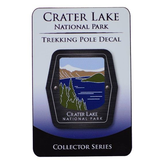 Crater Lake National Park Trekking Pole Decal - Oregon Lake and Forest - Official Traveler Series #craterlakenationalpark