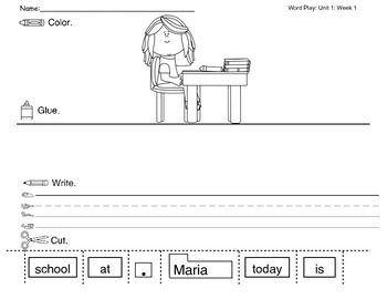 Fundations kindergarten unit 1 worksheets fundations for Fundations lesson plan template