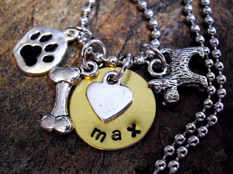 Dog jewelry dog necklace personalized dog jewelry by