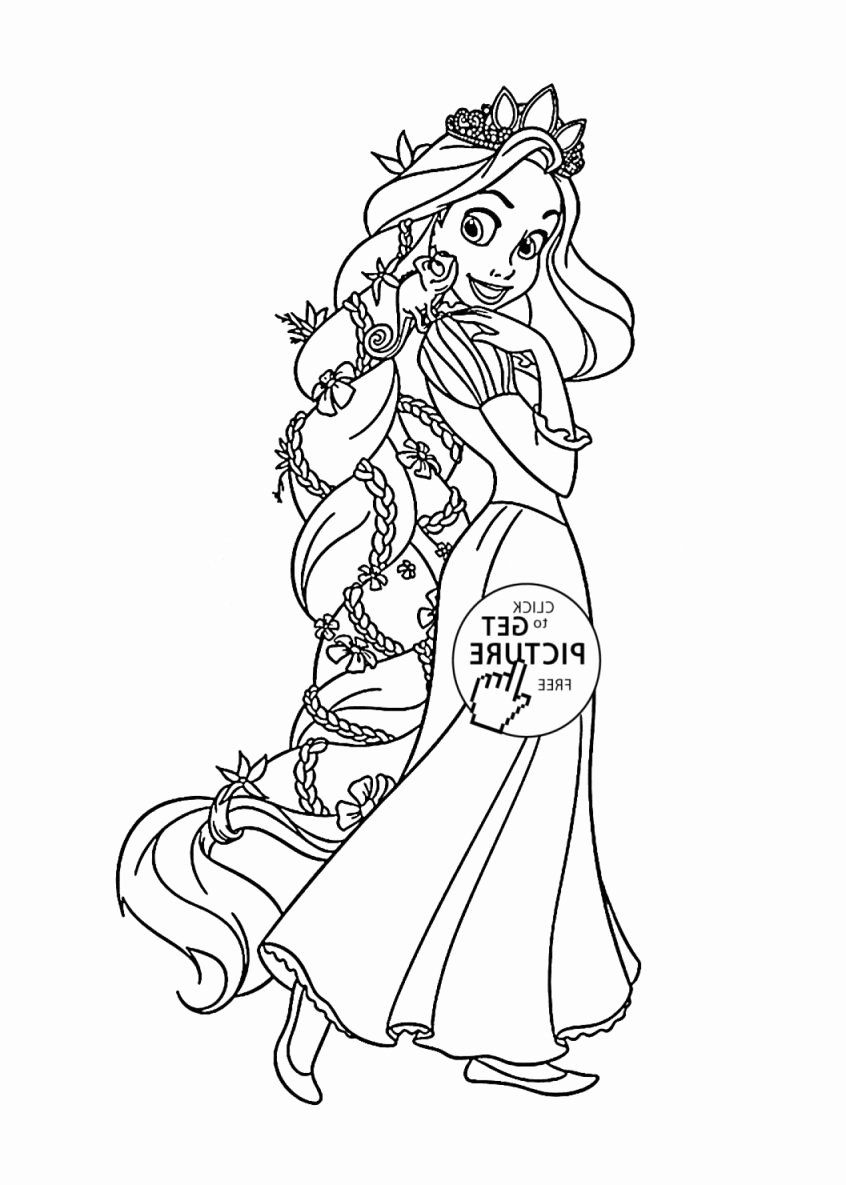 Disney Brave Coloring Page Fresh Coloring Tangled Rapunzel Coloring Page For Kids Disney [ 1185 x 846 Pixel ]