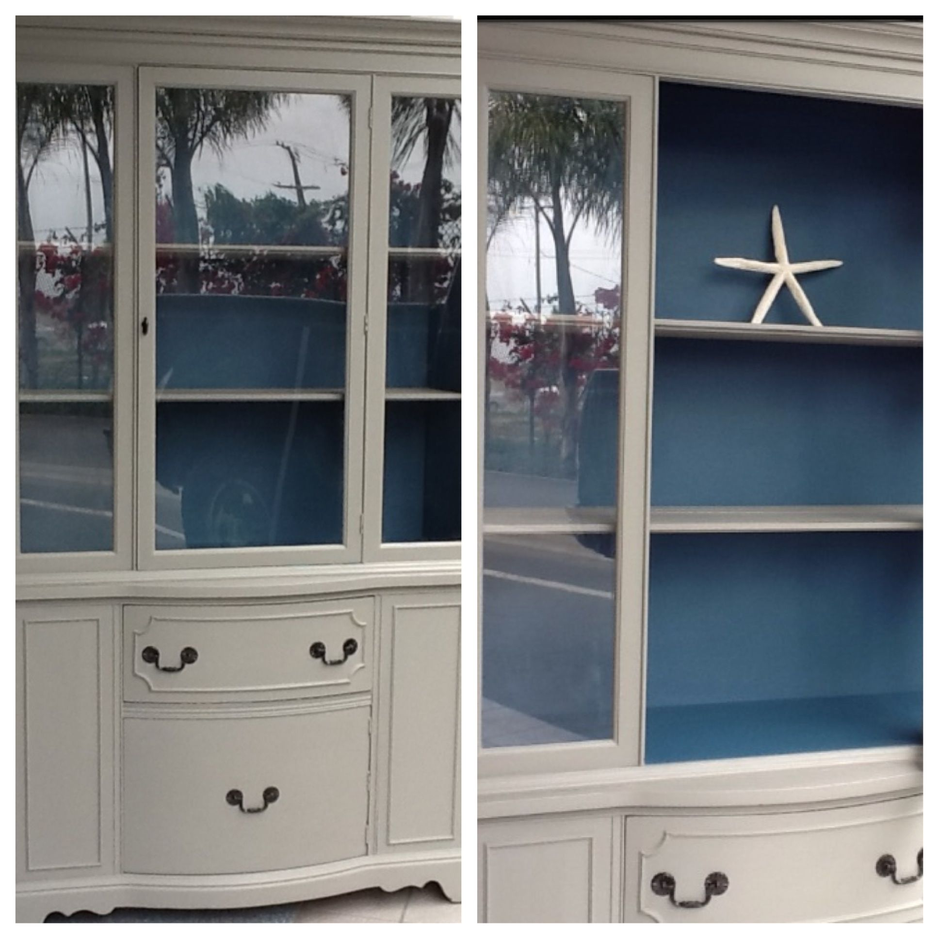 Annie Sloan Chalk Paint~ French Linen And Abbusson Blue Like Us On Facebook Or Follow Us On