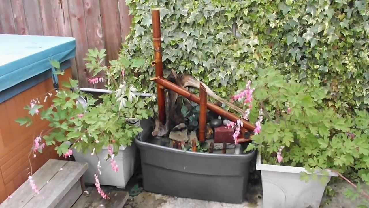 Homemade Diy Shishi Odoshi Deer Scarer Bamboo Fountain