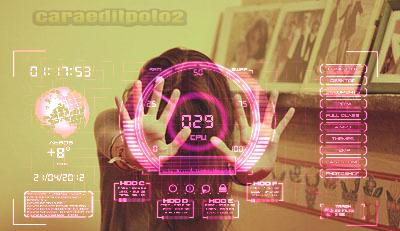 hologram ironman editfoto picsaypro kekinian