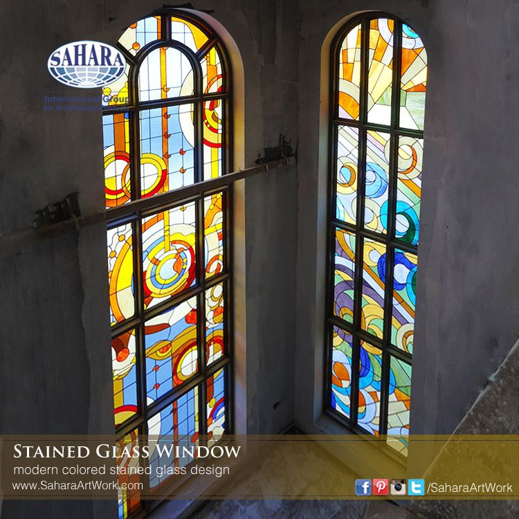 Different Color Combination That Gives Unique Reflection Modern Colored Stained Glass Window