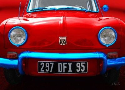 Renault Dauphine in tricolore-rouge, France