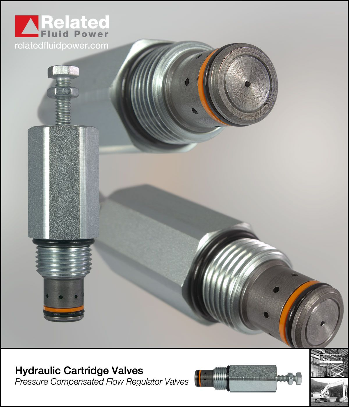 Pressure compensated flow control valves are ideal for