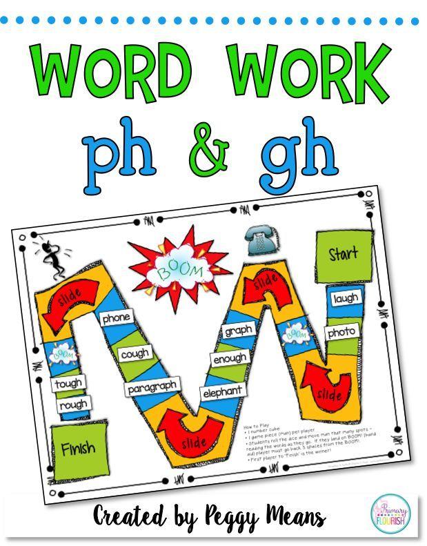 Phonics Word Work Ph And Gh Literacy Center Flip Book Word Work Phonics Words Phonics
