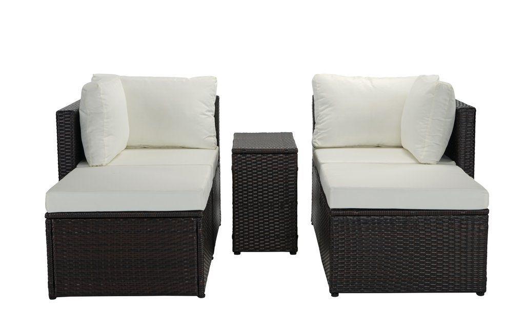Zanna 5 Pc Configurable Outdoor Wicker Furniture Set Configurable Furniture Outdoor S In 2020 Wicker Outdoor Furniture Set Outdoor Wicker Furniture Wicker Furniture