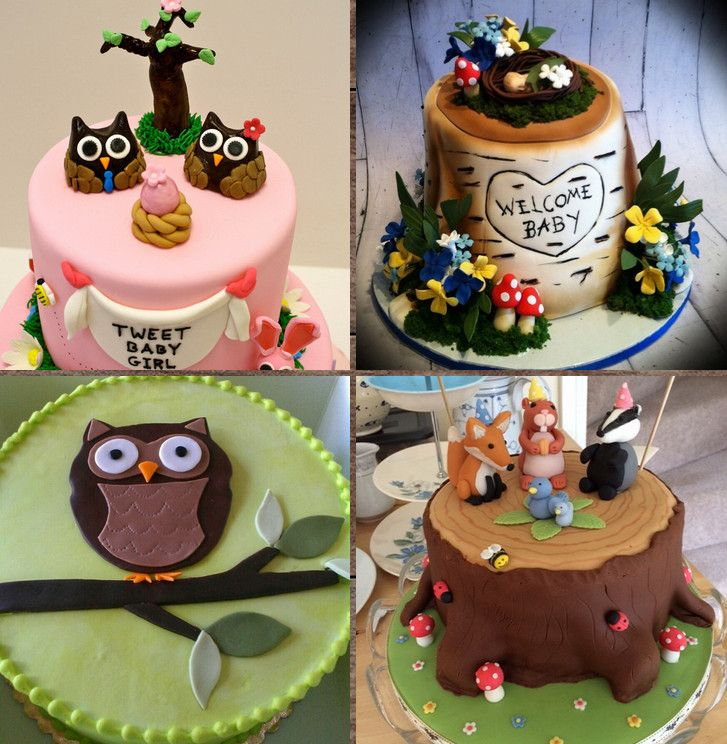 Woodland Themed Baby Shower Cake Home Party Ideas Pinterest