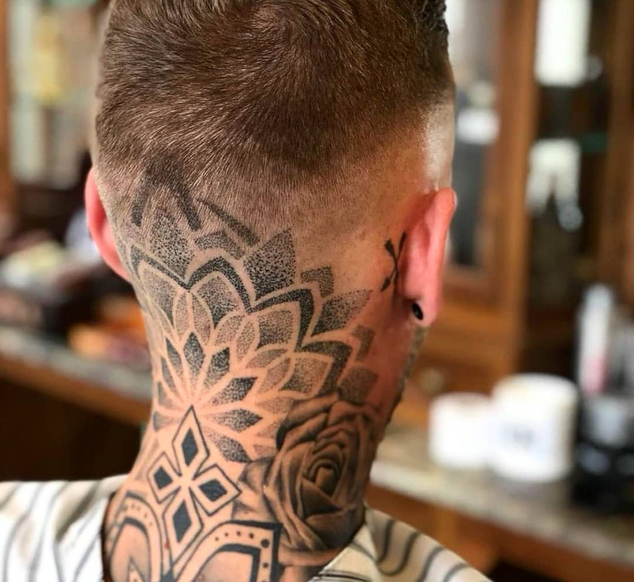 Pin By Jamie On Head Tattoo Ideas Neck Tattoo For Guys Head Tattoos Throat Tattoo