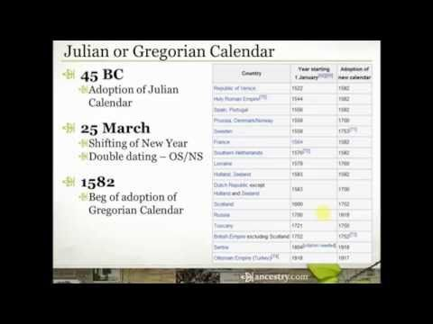 Double Dating Julian Calendar Or Gregorian Calendar You May Have