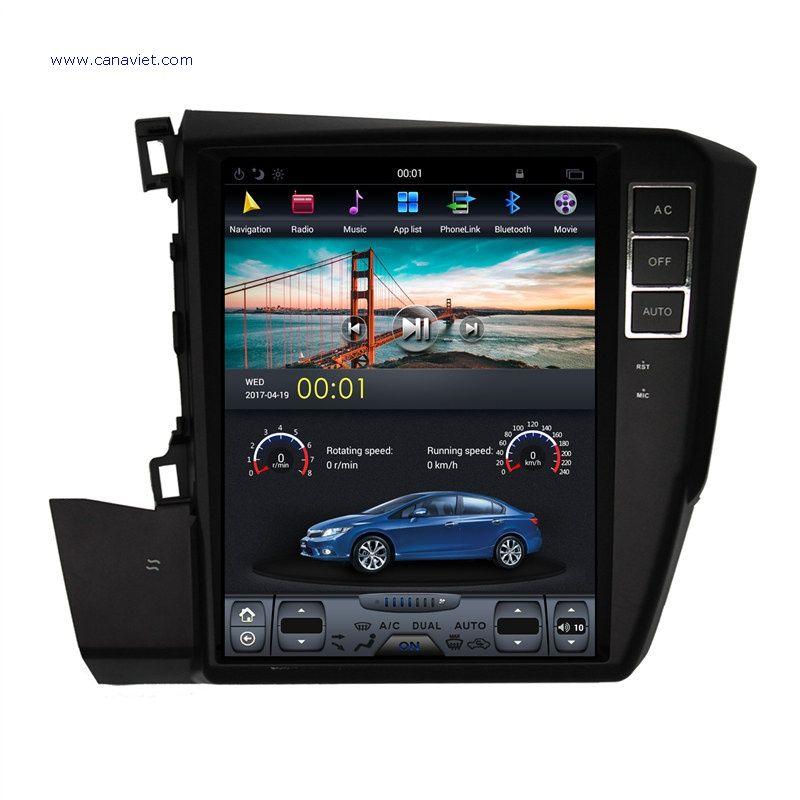 vertical screen tesla android autoradio car multimedia