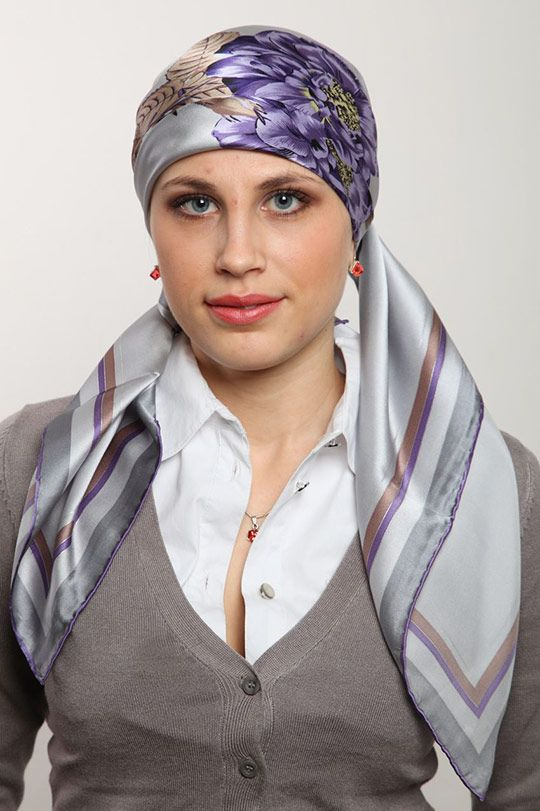завязывать платок на голову фото