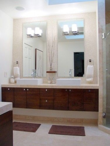 Superb Love The Wall Tile, The Raised Sinks, The Floating Cabinets! Sconces On A