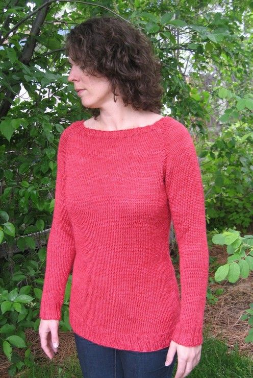 Knitting Pure And Simple Diane Soucy Top Down Boatneck Pullover