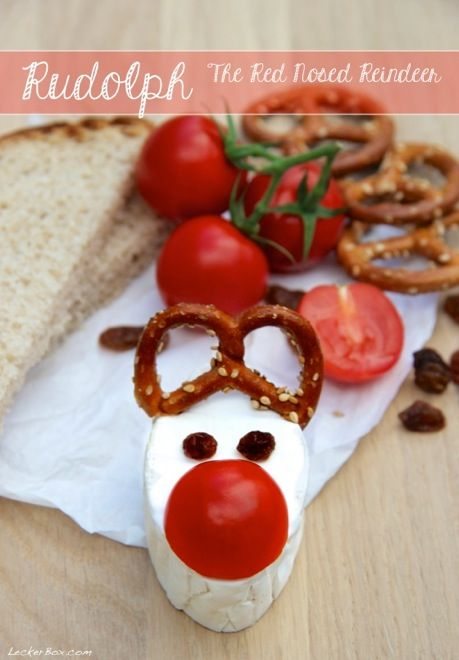 weihnachtsfr hst ck mit rudolph the red nosed reindeer essbare deko pinterest heiligabend. Black Bedroom Furniture Sets. Home Design Ideas