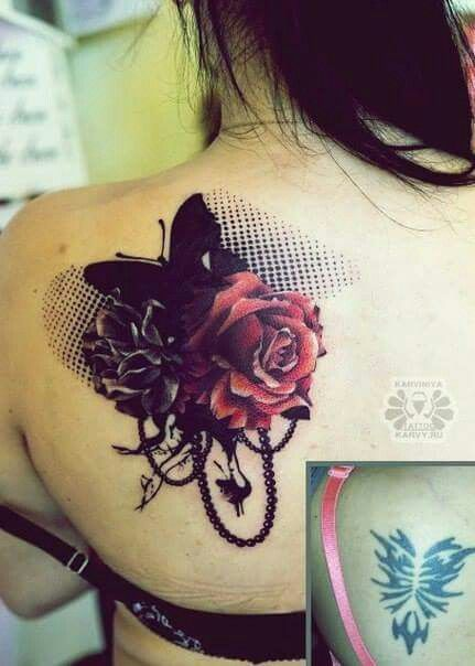 73a1bdb7ed85344986a7c09bfdf02997 Jpg 431 604 Up Tattoos Back Of Shoulder Tattoo Cover Up Tattoos