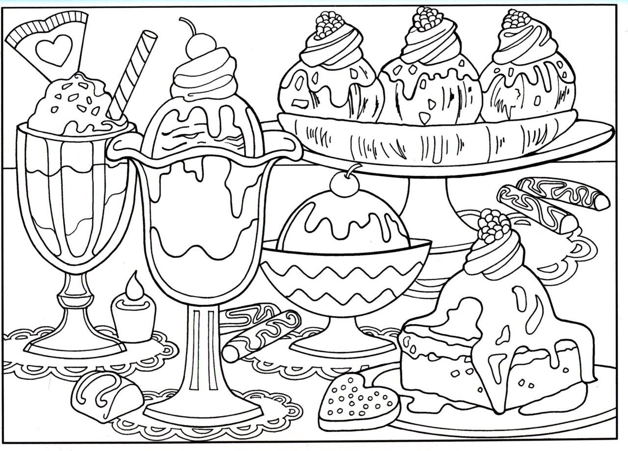 Kids Cartoon Food Coloring Pages