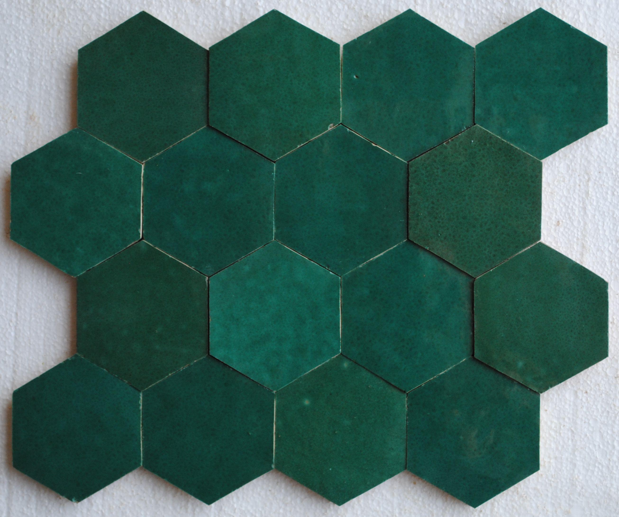 Emerald Zellige Tiles Zellige Salle De Bains Design Carrelage