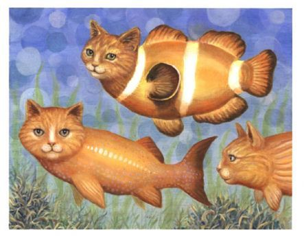 Картинки для детей рыбка для кошки