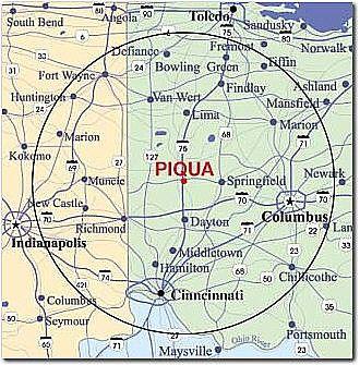 Location Of Piqua Ohio Piqua Piqua Ohio Sandusky