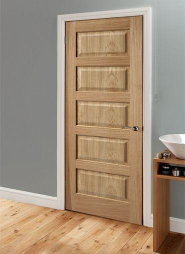 magnet trade contemporary oak 5 panel doors tall. Black Bedroom Furniture Sets. Home Design Ideas