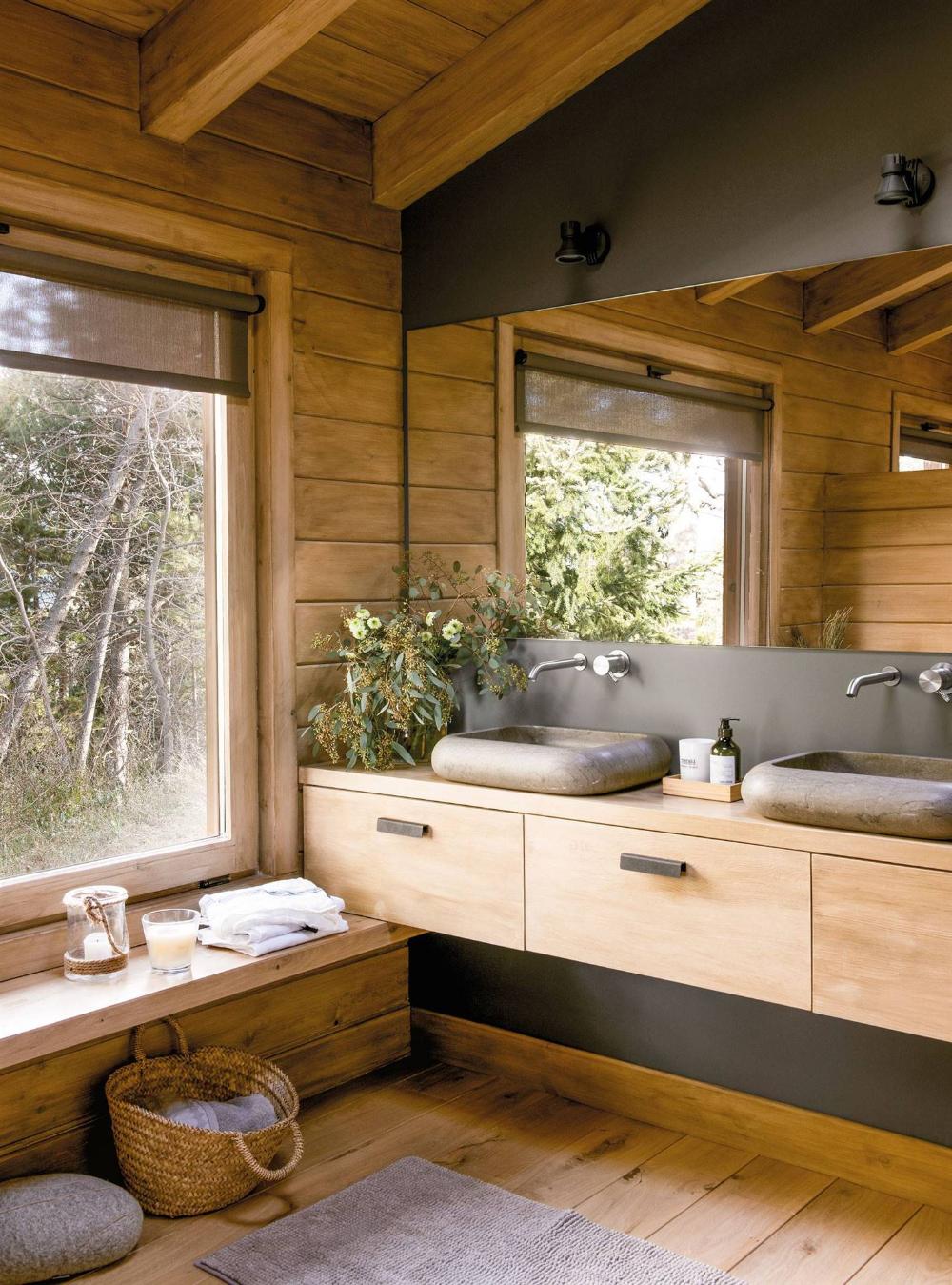 Los 50 mejores baños rústicos de El Mueble