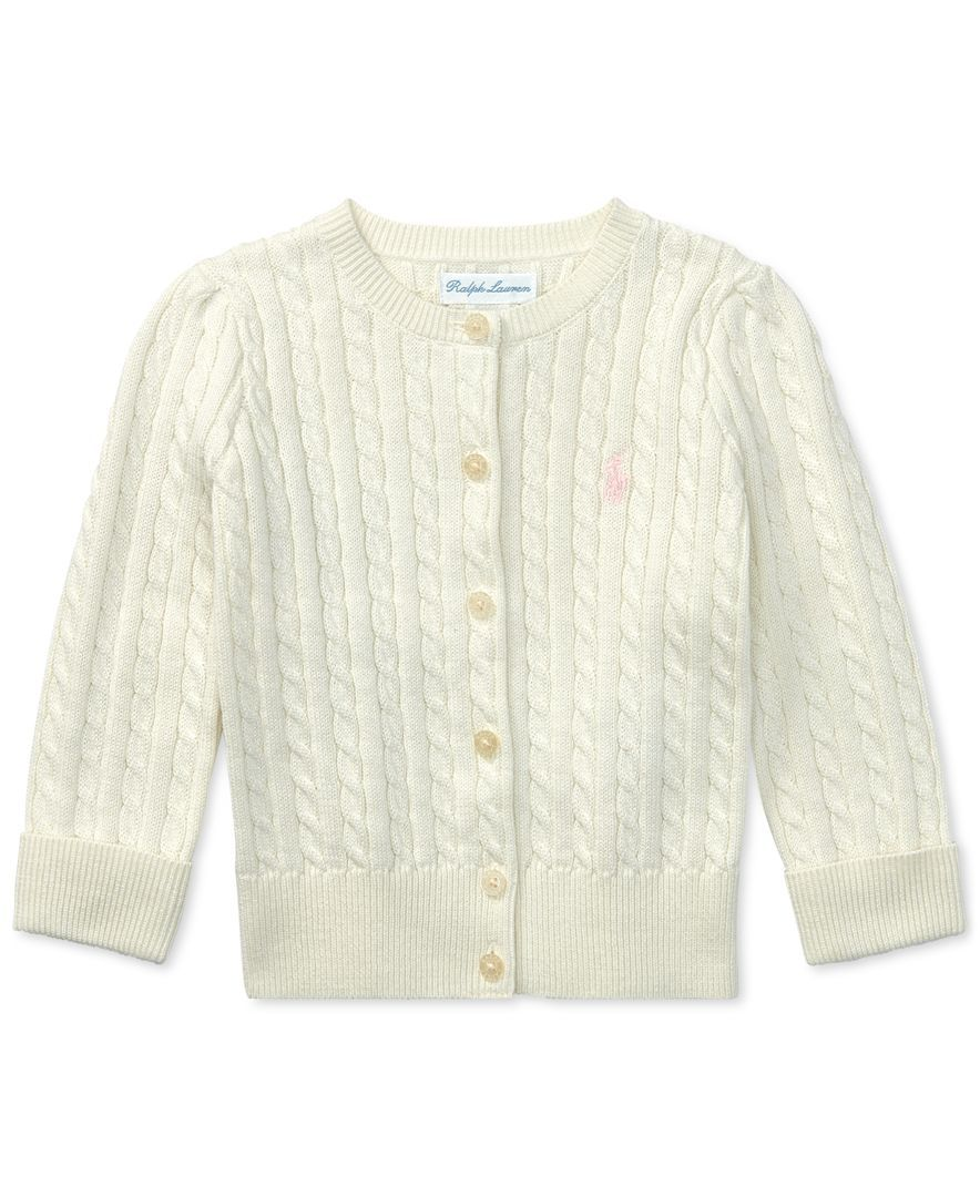 5f15d99ec944 Ralph Lauren Baby Girls Cable Cardigan