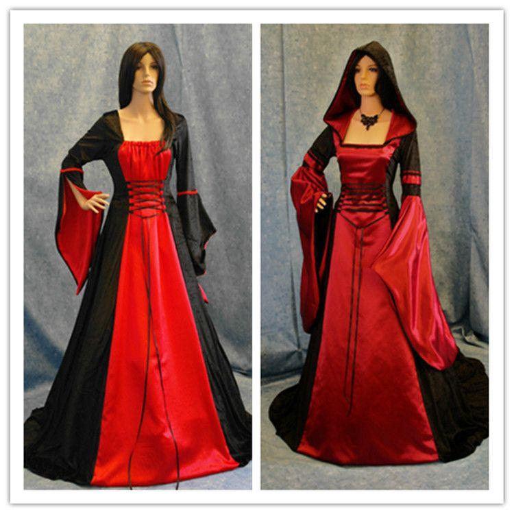 Black And Red Halloween Wedding Dress