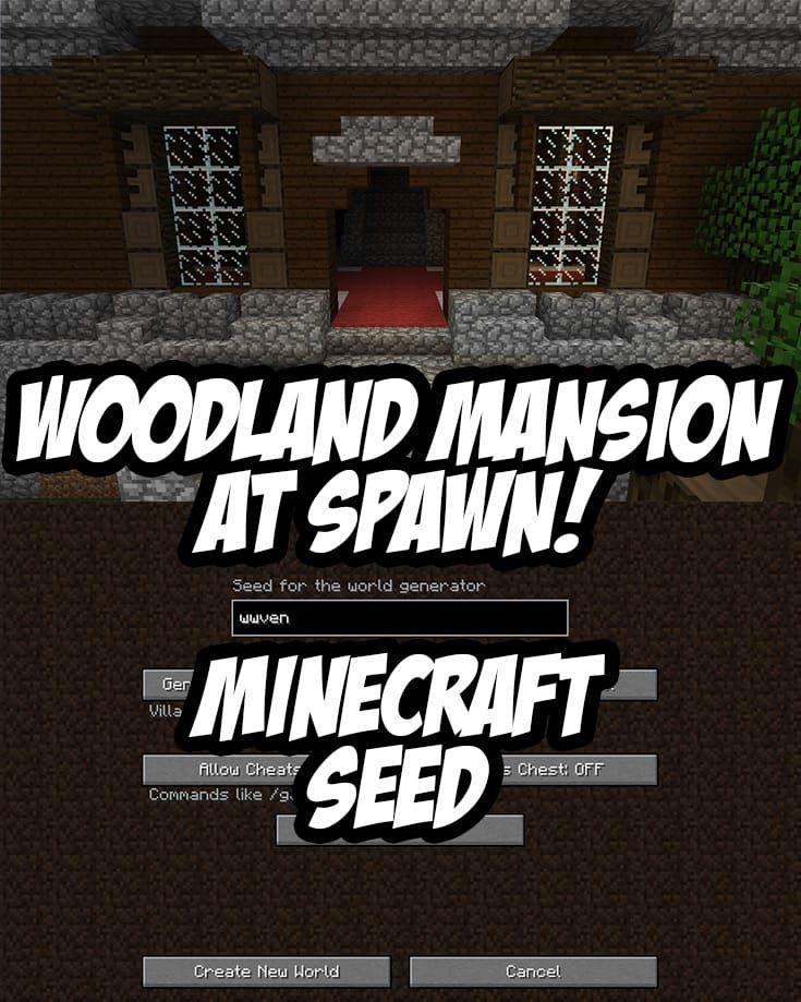 Woodland Mansion And Ravine At Spawn Minecraft Minecraft Memes